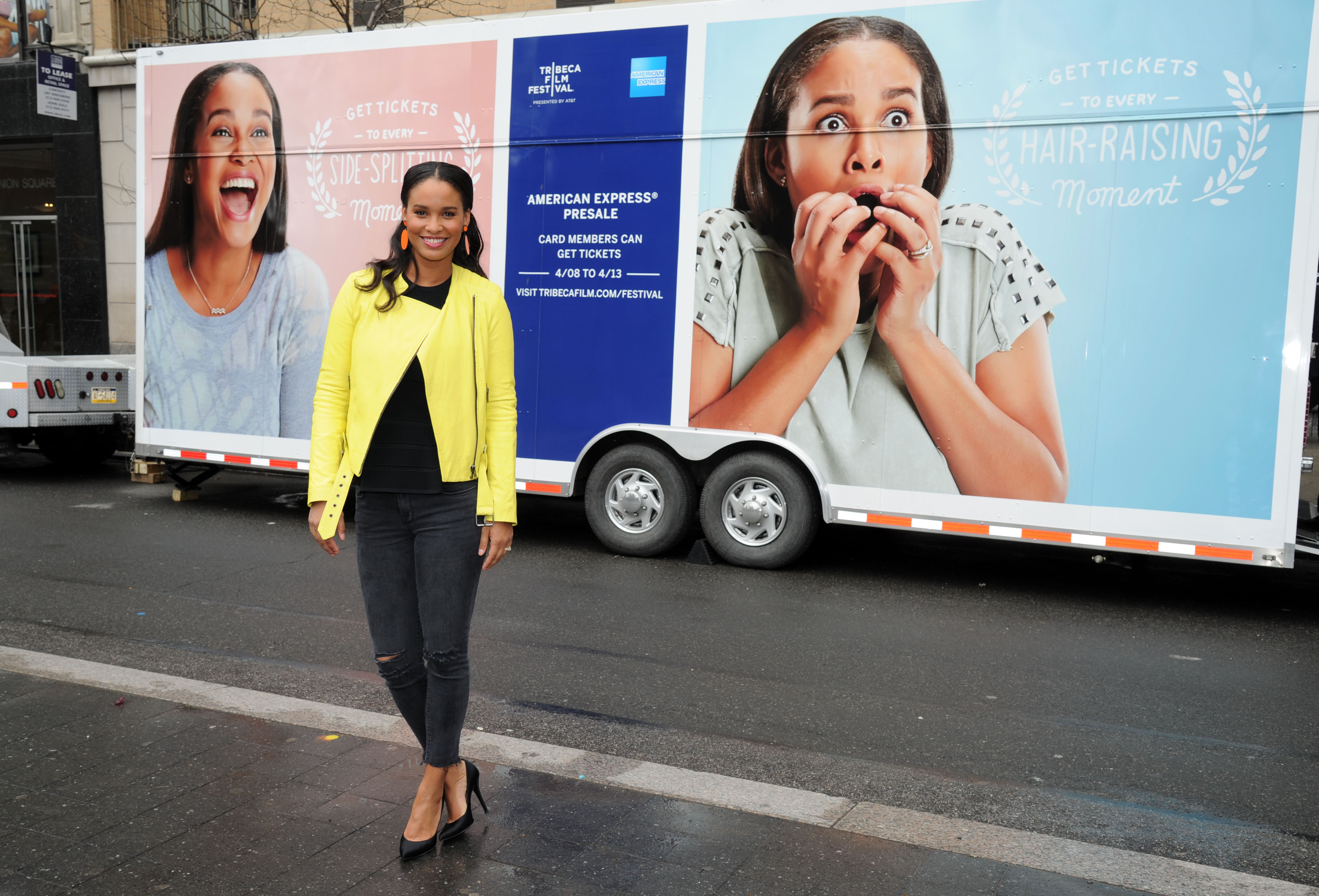 Actress Joy Bryant poses at a portrait session for Paper