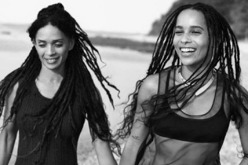Zoe Kravitz and Lisa Bonet for Calvin Klein